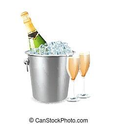 Champagne In Bucket Illustration