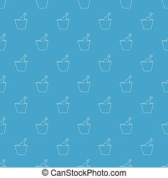 Champagne in bucket pattern vector seamless blue