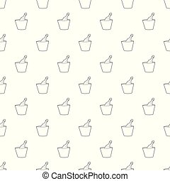 Champagne in bucket pattern vector seamless