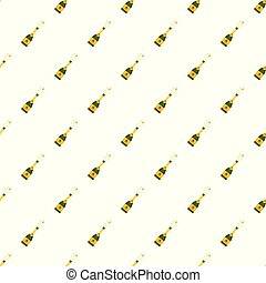 Champagne pattern seamless vector