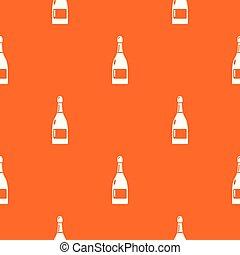 Champagne pattern vector orange