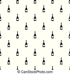 Champagne pattern vector seamless