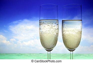 champagne, plage