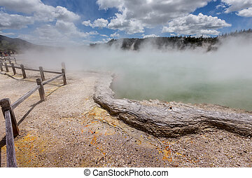 Champagne Pool in Waiotapu Thermal Reserve, Rotorua, New...