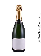 Champagne - Bottle of Champagne with blank label