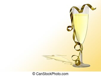 Champagne Toast - Highly detailed photorealistic...