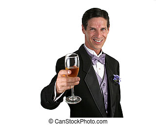 Champagne Toast Horizontal