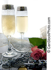 Champagne Toast - Image of celebratory champagne can be used...