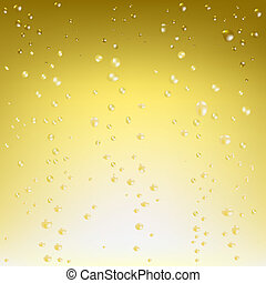 Beautiful Champagne Background, Vector Illustration
