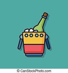 champagne wine vector icon