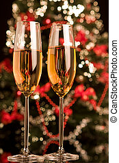 Champagne with Xmas