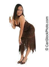 Champagne Woman