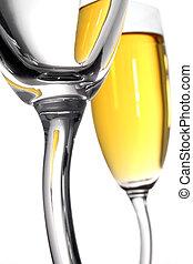 champagner, abstrakt