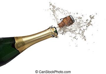 champagner, bersten