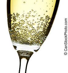 champagner, closeup, flöte