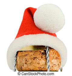 champagner, frohe weihnacht, dekoration