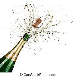 champagner, spritzer, feier