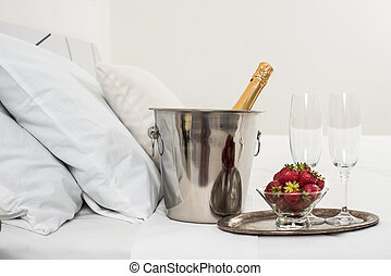 champanhe, cama