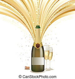 champanhe, comemorar, fundo