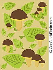 champignon, fond