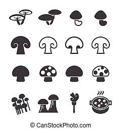 champignon, icône