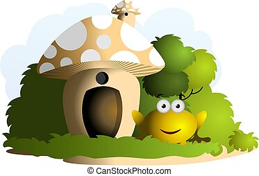 champignon, maison
