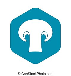 Champignon mushroom icon, simple style
