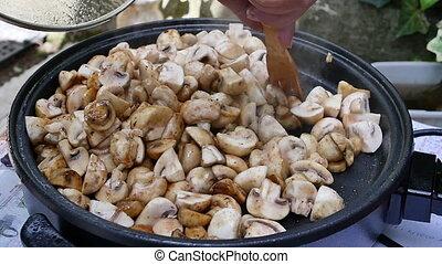 champignons, cuisine