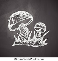 champignons, icône