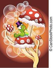 champignons, illustration