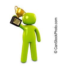 3d image, conceptual, winner, champion