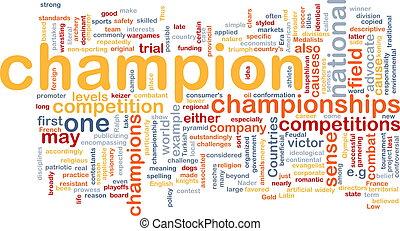 Champion background concept