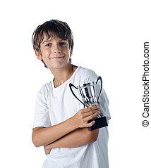 champion child holding winner cup 2