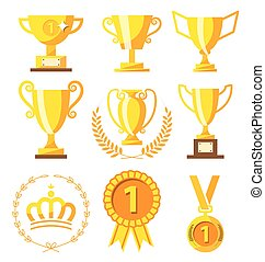 Champion cup and golden medal for Success winner - Champion ...