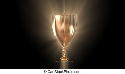 Champion Cup loopable rotating with rays - Golden champion...