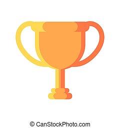 champion, fond blanc, trophée