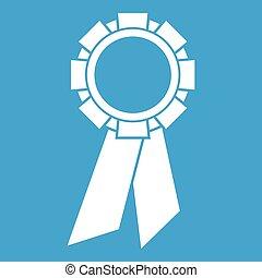 Champion medal icon white