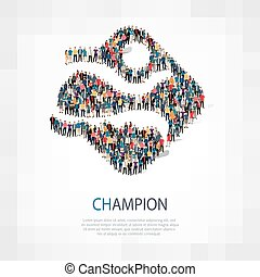champion people sign 3d