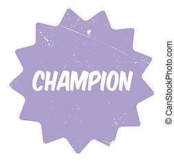 Champion rubber stamp