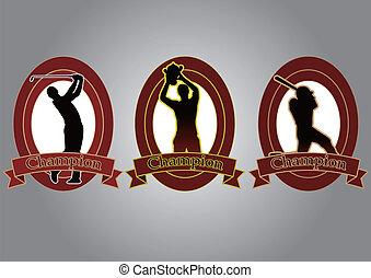 champion silhouette icon