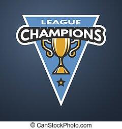 Champion sports league logo, emblem.