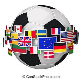 championnat, concept, football