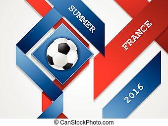 championnat, football, france, conception, constitué, euro