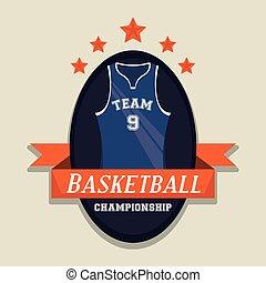 championnat, jeu, basket-ball, sport, carte