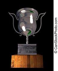 championship - 3d illustration of championship