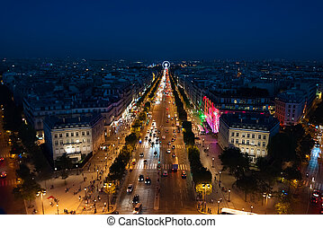 Champs Elysees from above
