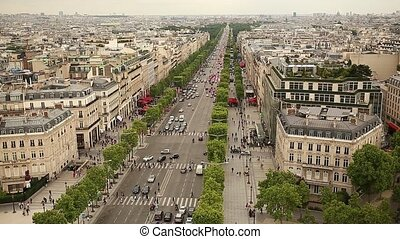 Elysees in Paris France - Champs Elysees in Paris France...