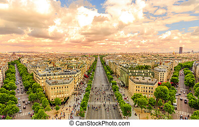 Champs Elysees panorama