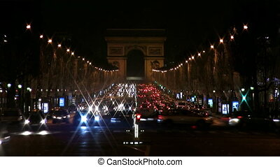 Champs-Elysees, Paris - View by night