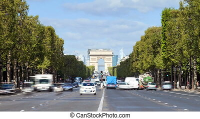 Champs-Elysees timelapse - Beautiful full HD timelapse of...